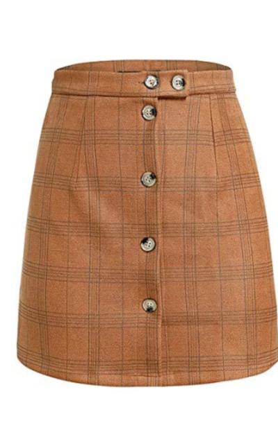 Simplee Plaid Mini Skirt