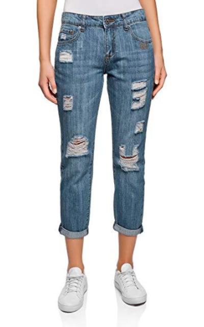 oodji Ultra Ripped Boyfriend Jeans