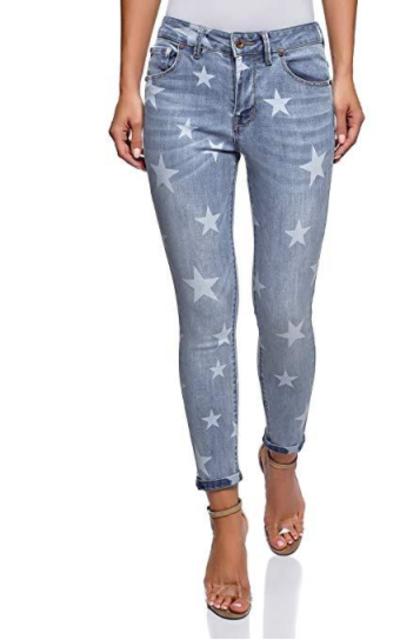 oodji Ultra Star Print Jeans