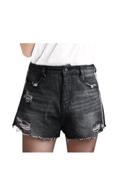 Goddess Area Stretch Denim Shorts