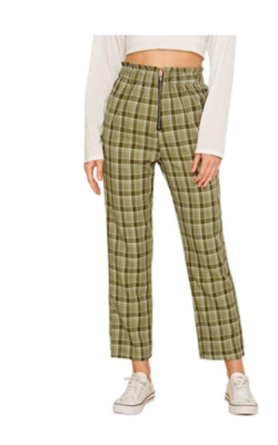 WDIRARA Plaid Pants
