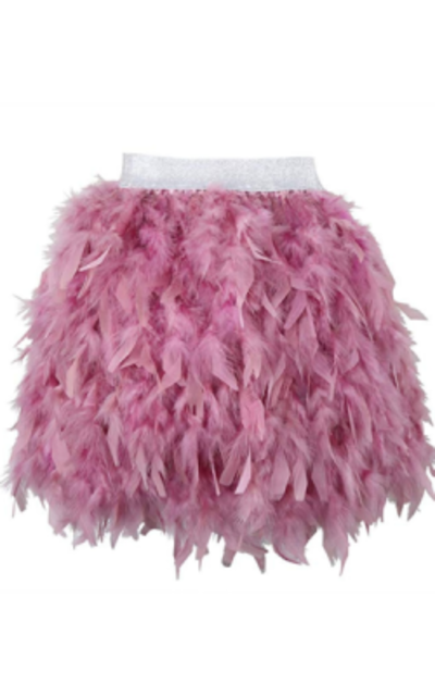 L'VOW Feather Skirt
