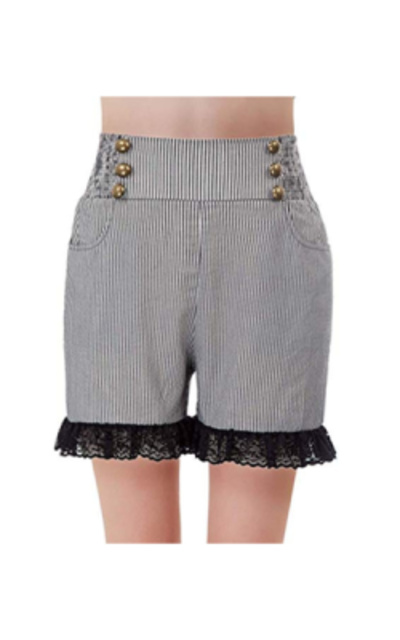 SCARLET DARKNESS Steampunk Pirate Shorts