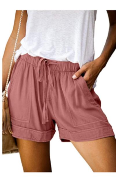 Acelitt Comfy Drawstring Elastic Shorts