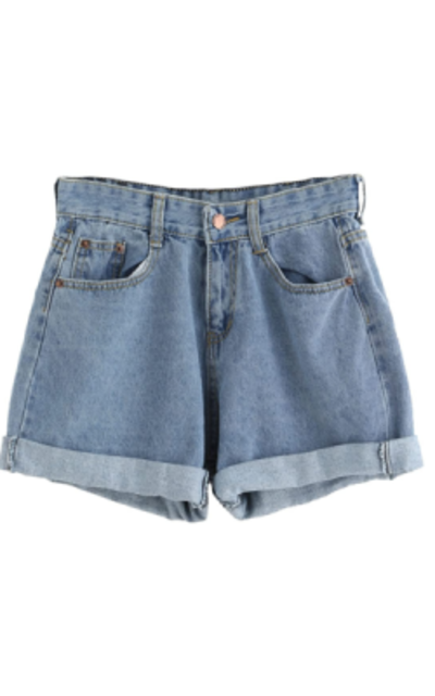 SweatyRocks Retro High Waisted Rolled Jean Shorts