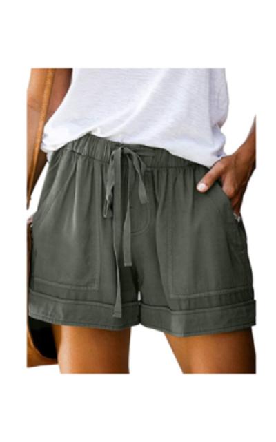 Govc Drawstring Elastic Waist Shorts with Pockets