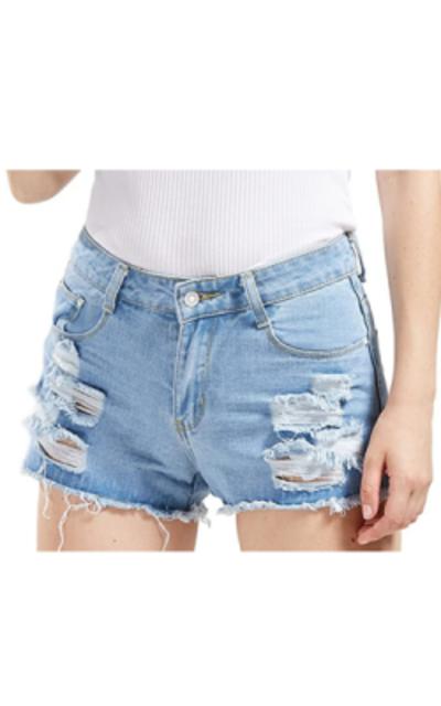 chouyatou Ripped Denim Jean Shorts