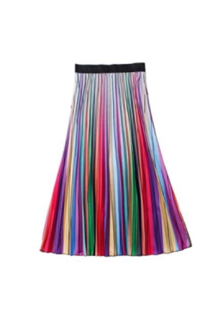 watersouprty Boho Pleated Skirts