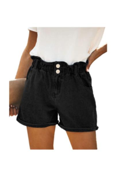 ReachMe Paperbag Waist Denim Shorts