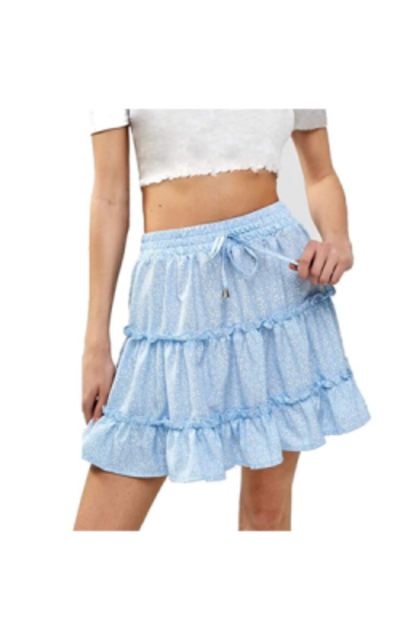 VNDFLAG Ruffle Tiered Mini Skirt
