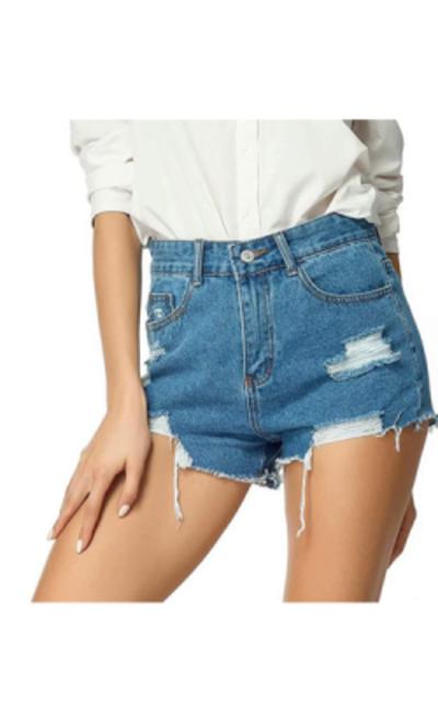AYOMIS High Waisted Denim Shorts