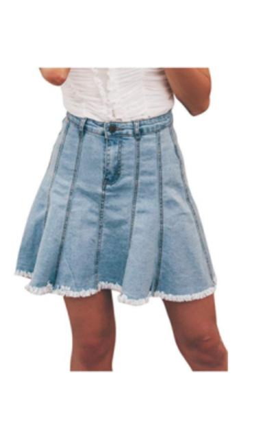 Miessial Jean Skirt