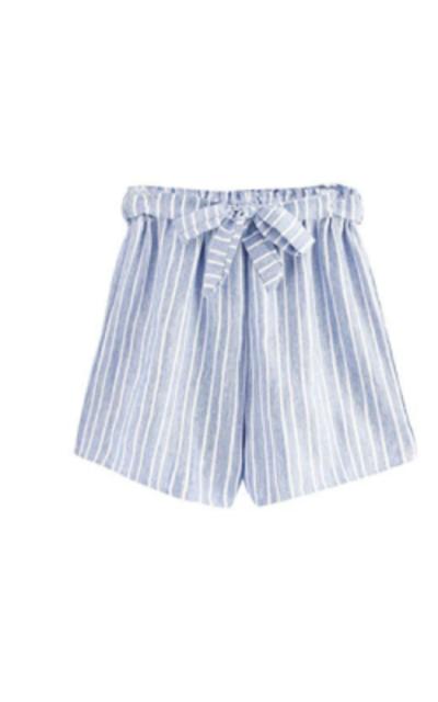 MAKEMECHIC Casual Striped Elastic Waist Shorts
