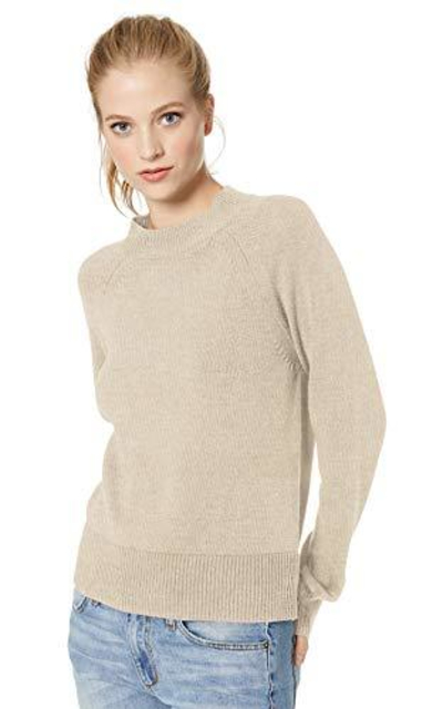 Amazon Brand - Daily Ritual 100% Cotton Mock-Neck Sweater