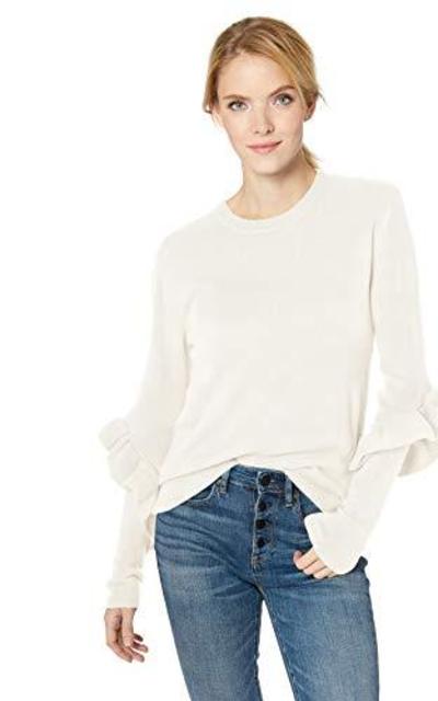 Nicole Miller Studio Ruffle Sleeve Sweater