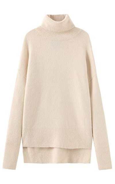 Fancy Stitch  Turtleneck Loose Cozy Sweater