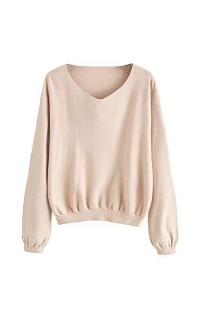 Milumia Sweater Bishop Sleeve Pullovers