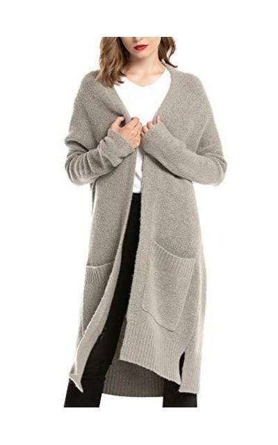 Woolen Bloom Knit Long Sleeve Sweater Cardigan