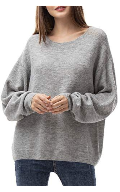 Woolen Bloom Oversized Loose Sweater
