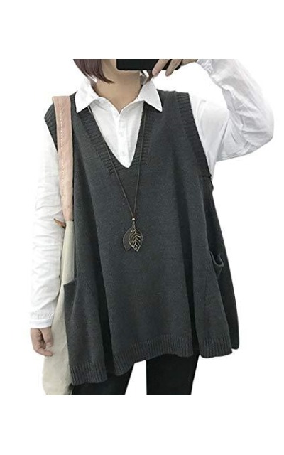 YESNO WM9 Loose Sweater Vest