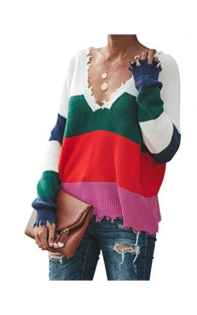 Womens Rainbow Sweater