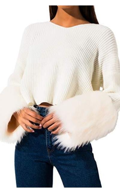 AKIRA Furry Sleeve Sweater