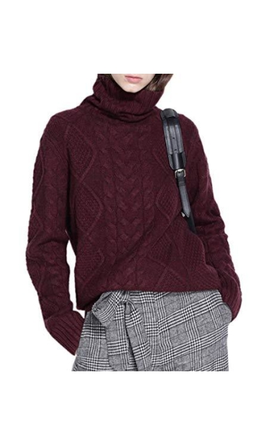 Ailaile Turtleneck Pullover Sweater