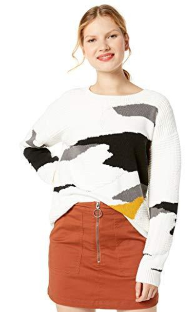 Cable Stitch  Vintage Intarsia Pullover Sweater