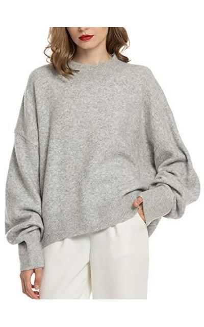 Woolen Bloom Mock Neck Sweater