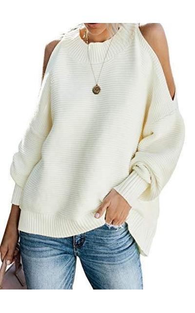 LOSRLY Cold Shoulder Sweater