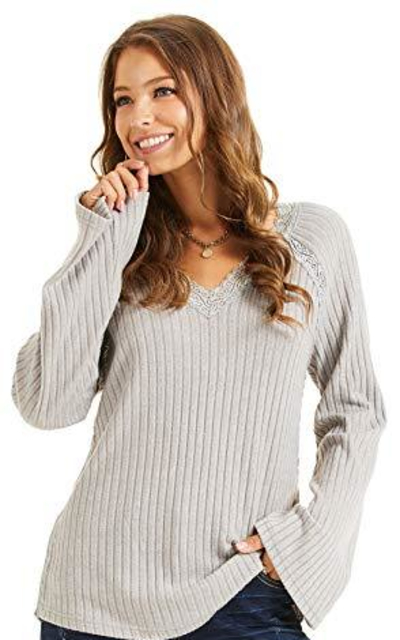 SONJA BETRO Knit Lace Inset Tunic