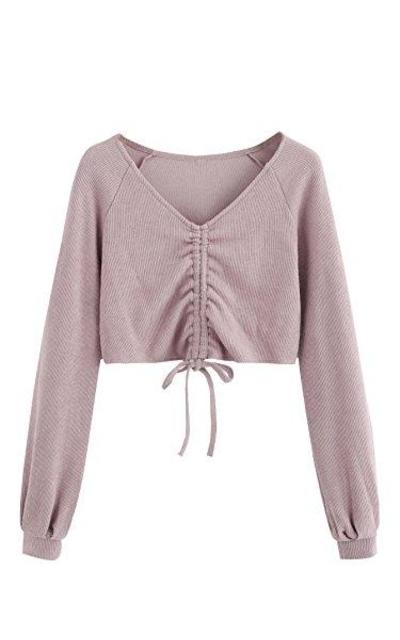 SweatyRocks Sweater Crop Top