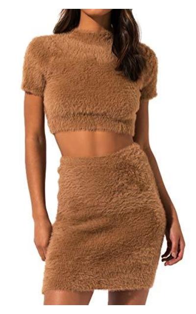 AKIRA Fuzzy Knit Sweater Crop Top
