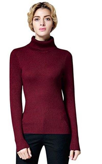 ninovino Turtleneck Ribbed Sweater Pullover Tops