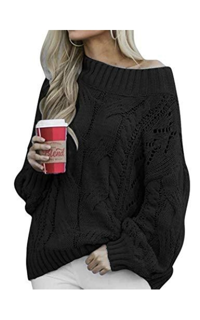 PrettyGuide Off The Shoulder Sweater