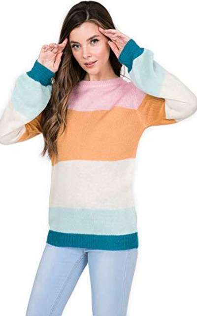 Over Kleshas Multi Color Block Sweater