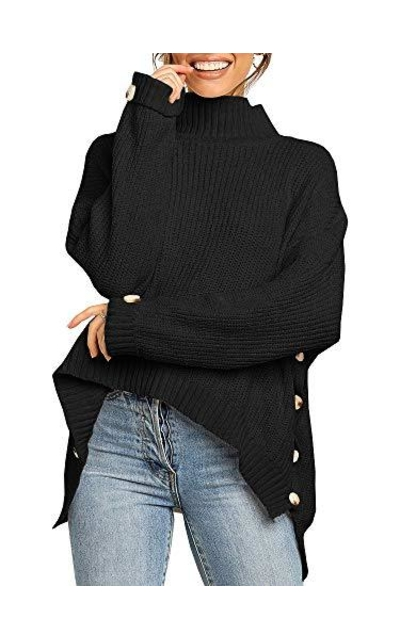 Misassy Turtleneck Knit Sweater