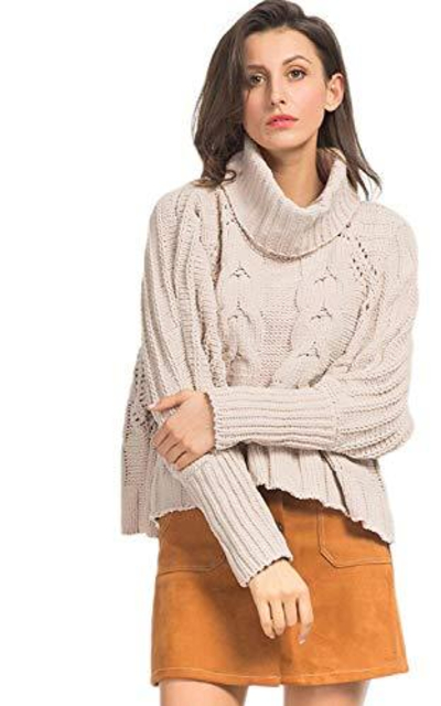 Persun Cable Crop Sweater