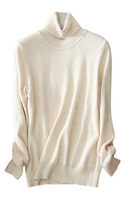 LATUD Turtleneck Basic Knit Pullover Sweater