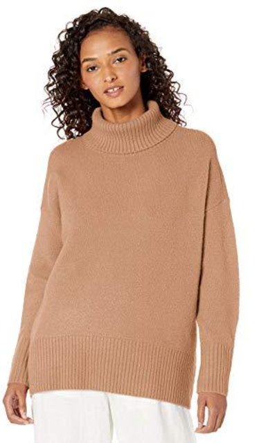 Amazon Brand - Daily Ritual Cozy Boucle Turtleneck Sweater