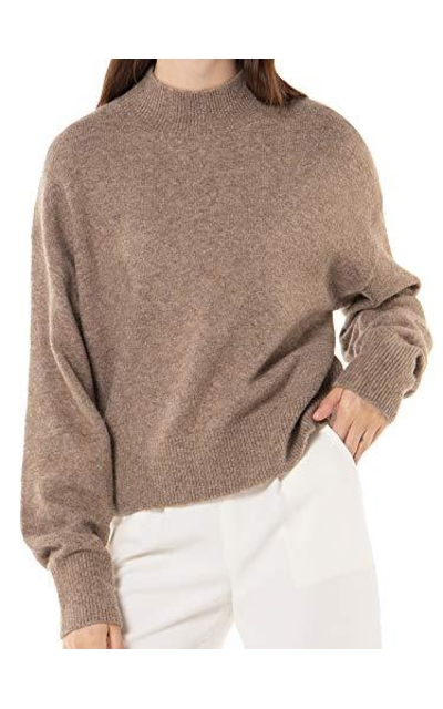 Woolen Bloom Mock Turtleneck Sweater