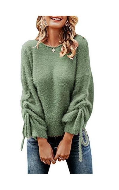 Miessial Crew Neck Knit Pullover