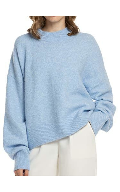 Woolen Bloom Mock Neck Sweater