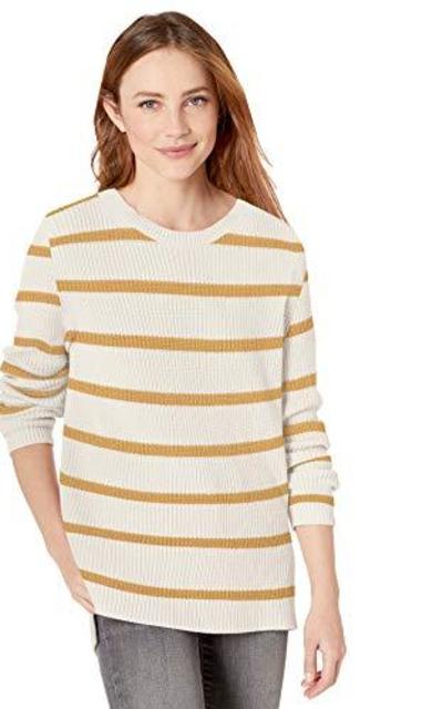 Amazon Brand - Goodthreads Cotton Shaker Stitch Crewneck Sweater