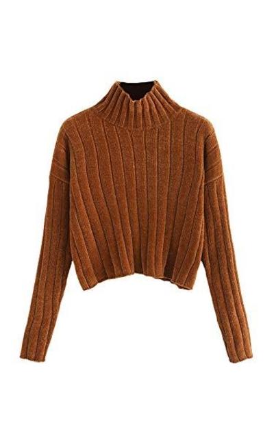 SheIn High Neck Crop Sweater