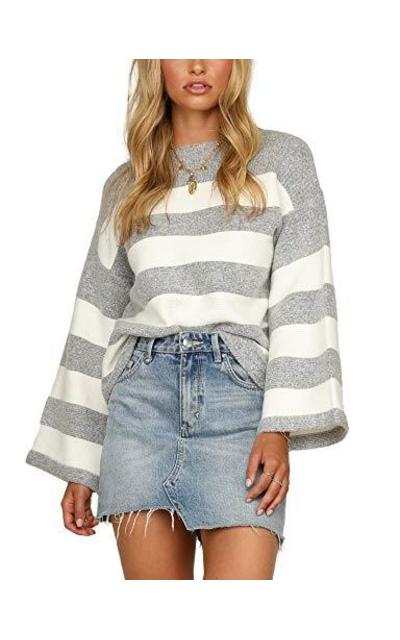Relipop Crewneck Baggy Stripe Sweater