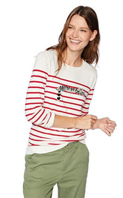 J. Crew Mercantile Striped Cat Sweater