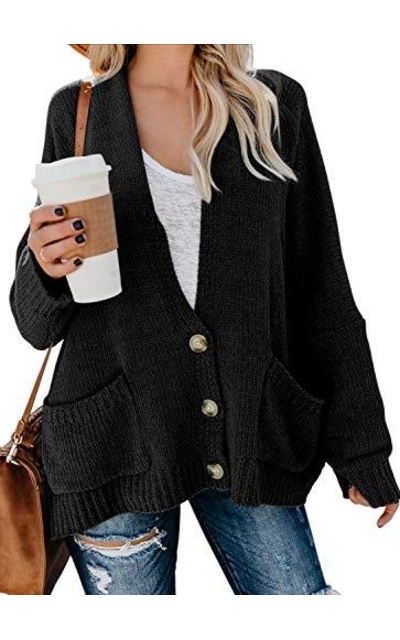 BLENCOT Button Down Open Cardigan