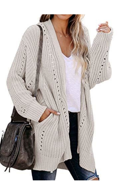 Dokotoo Oversized Open Front Cardigans Sweater