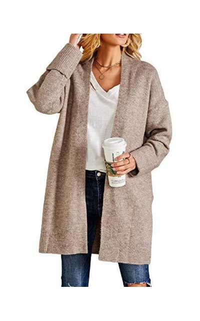 Ferbia Open Front Loose Cardigan Sweater